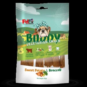 פטקס באדי סנאק חטיף צמחוני בטטה וברוקולי לכלב 80 גרם